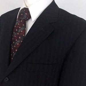 Pronto Uomo Couture Navy Blue Pinstripe Sport Coat